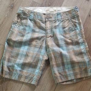ABERCROMBIE & FITCH Plaid Shorts 0 (B16)